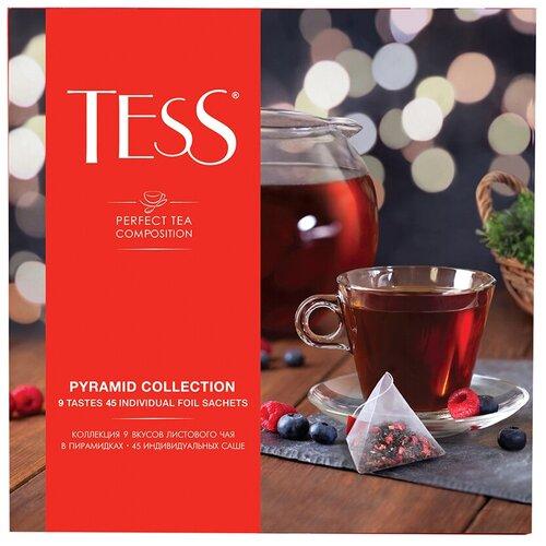 Чай Tess Pyramid collection ассорти в пирамидках подарочный набор, 45 шт. чай richard royal advent calendar ассорти в пирамидках подарочный набор 25 шт