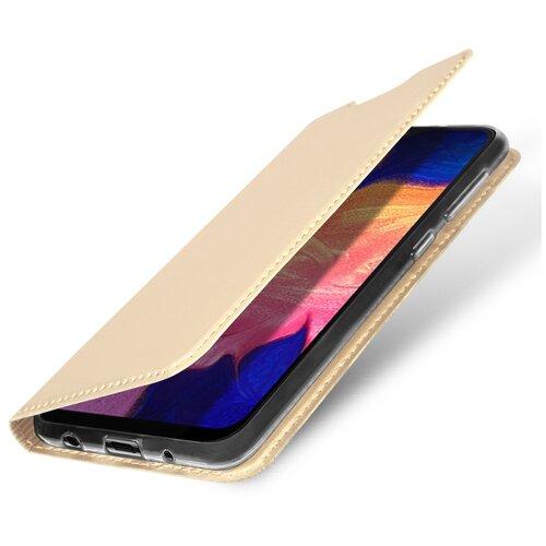 Чехол-книжка DUX DUCIS Skin Pro для Samsung Galaxy A10 золотой