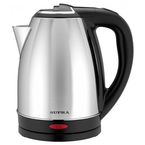 Чайник SUPRA KES-1800, металл/черный чайник supra kes 1800