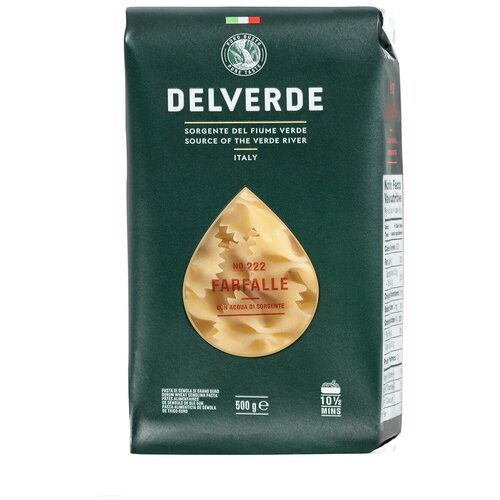 Delverde Industrie Alimentari Spa Макароны № 222 Farfalle, 500 г