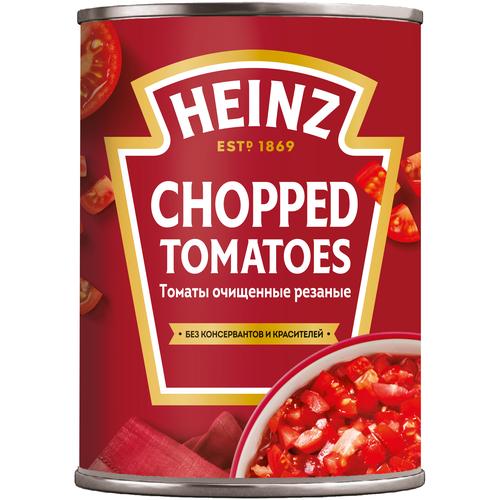 томаты очищенные резаные в томатном соке bioitalia 400 г Томаты очищенные резаные Heinz, 400 г