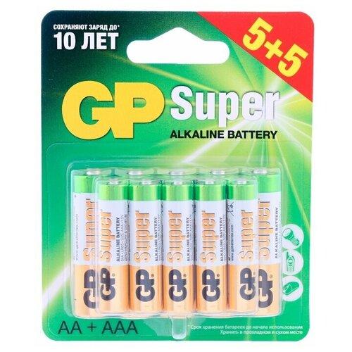 Фото - Батарейка GP Super Alkaline AA + AAA, 10 шт. батарейка energizer max plus aa 4 шт