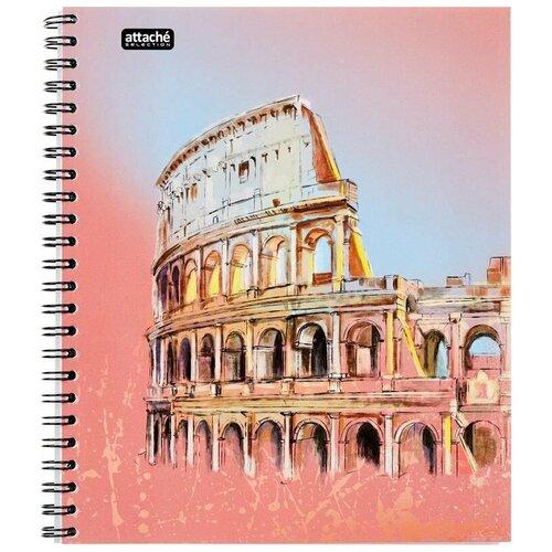 Бизнес-тетрадь Attache Selection Travel Italy А5, 96 листов, разноцветный, в клетку, на спирали, 170х203 мм тетрадь общая attache lines waves а5 96 листов в клетку на спирали 4 шт