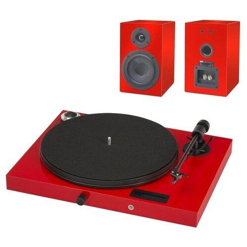 Виниловый проигрыватель Pro-Ject Juke Box E + Speaker Box 5 (OM5e) красный виниловый проигрыватель pro ject juke box e piano black om 5e