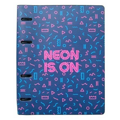 Купить InFolio Тетрадь Neon Tropics А5, клетка, 120 л., синий, Тетради
