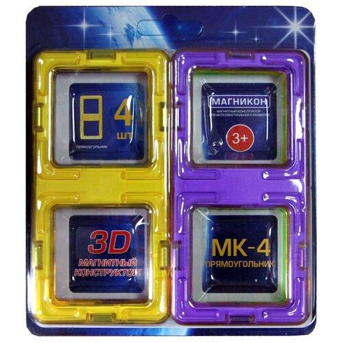 Купить Магнитный конструктор Магникон Набор элементов МК-4-ПР Прямоугольник, Конструкторы
