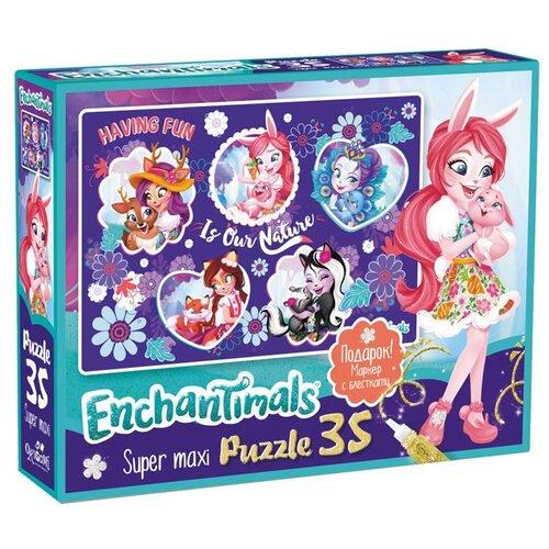 Купить Пазл Origami Enchantimals Nature (03562), 35 дет., Пазлы