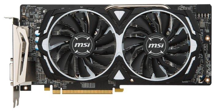 Видеокарта MSI Radeon RX 580 1366MHz PCI-E 3.0 8192MB 8000MHz 256 bit DVI 2xHDMI HDCP Armor OC