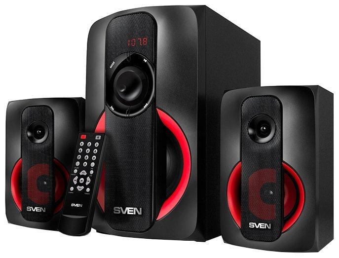 Компьютерная акустика Sven MS-304 черный/красный