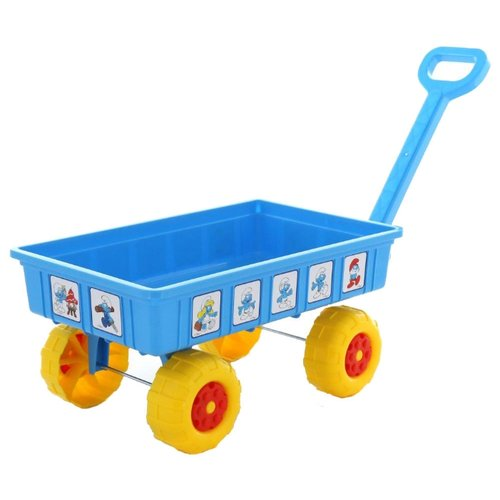 Фото - Тележка Полесье Смурфики 64547 голубой/желтый полесье набор игрушек для песочницы 468 цвет в ассортименте