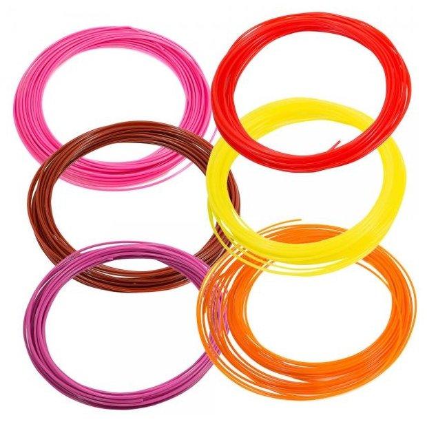 Набор №5 ABS прутков для 3D ручки PrintProduct 1.75 мм 6 цветов
