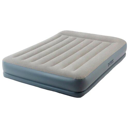 Фото - Надувная кровать Intex Mid Rice Airbed (64118) светло-темно-серый надувной матрас intex mid rice airbed 64116 светло темно серый