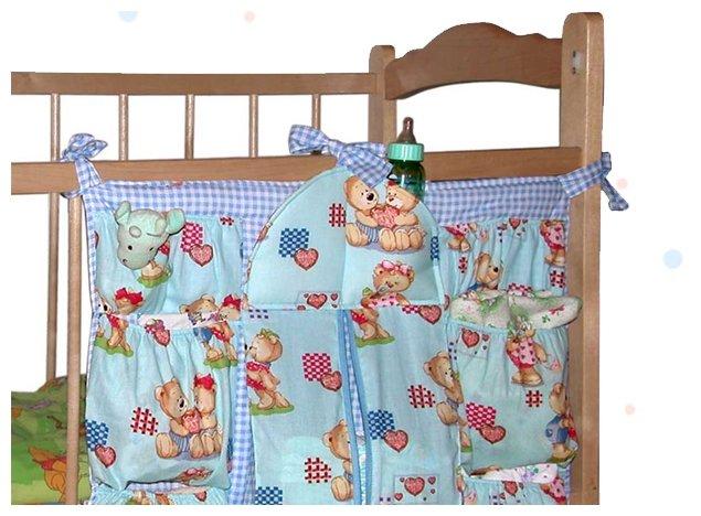 Карман на кроватку Чудо-чадо Подвесные карманы Мишутка, КШК01-001, Хлопок, Холлофайбер, Пластик