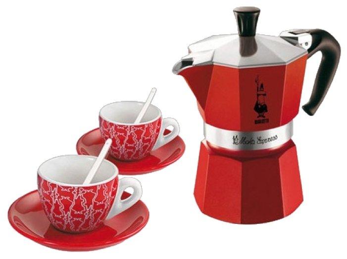 Bialetti Moka Red Passion Set (набор с 2 чашками)