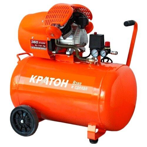 Компрессор масляный Кратон AC-360-100-DDV, 100 л, 2.2 кВт компрессор масляный elitech кпм 360 25 25 л 2 2 квт