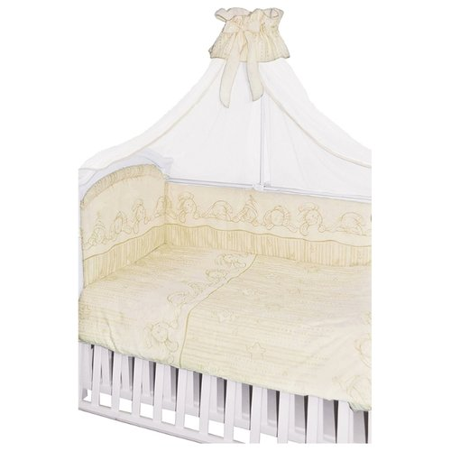 Купить Золотой Гусь комплект Зая-Зай (7 предметов) молочный, Постельное белье и комплекты