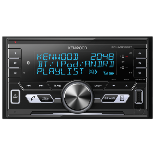 Автомагнитола KENWOOD DPX-M3100BT, черная