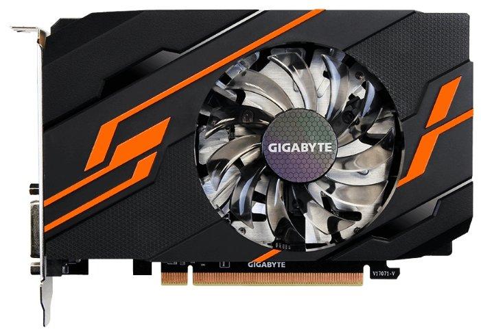 GIGABYTE Видеокарта GIGABYTE GeForce GT 1030 1290MHz PCI-E 3.0 2048MB 6008MHz 64 bit DVI HDMI HDCP OC