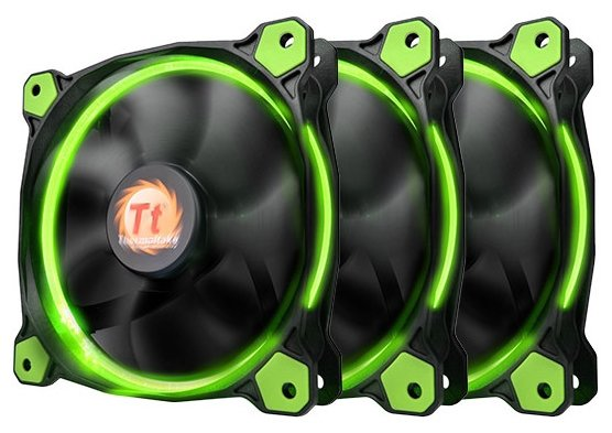 Thermaltake Riing 12 LED Green (3 fans pack)