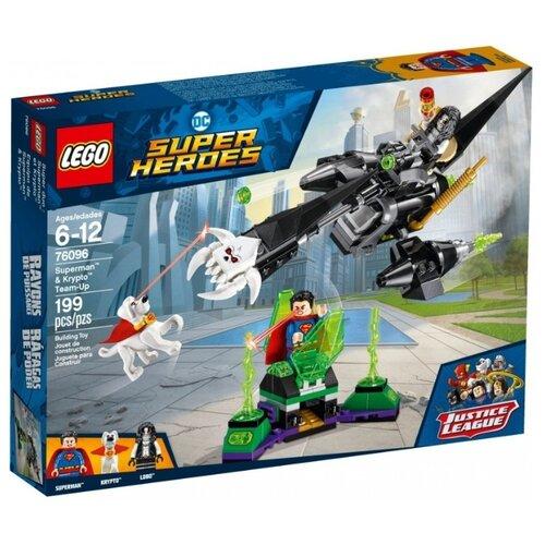 цена Конструктор LEGO DC Super Heroes 76096 Супермен и Крипто объединяют усилия онлайн в 2017 году