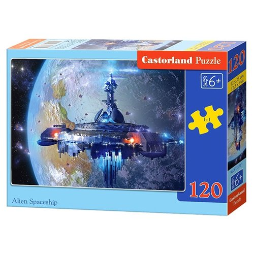 Купить Пазл Castorland Alien Spaceship (B-13272), элементов: 120 шт., Пазлы