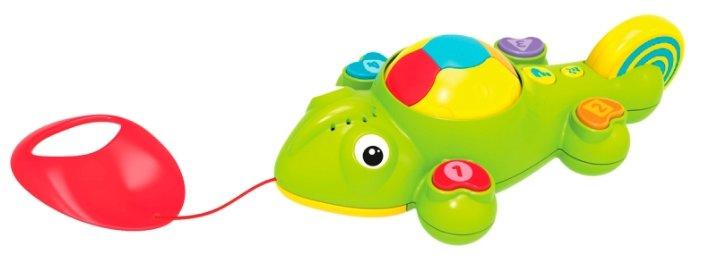 Каталка-игрушка 1 TOY Интерактивный хамелеон (Т10505) со звуковыми эффектами