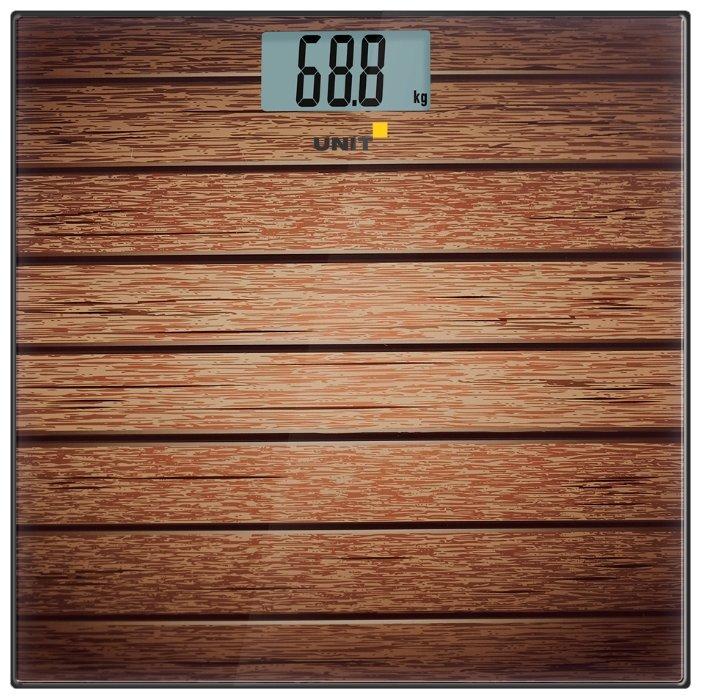 Весы напольные электронные UNIT UBS-2056, стекло, полноцветная печать, 180кг. 100гр. (Рисунок B)