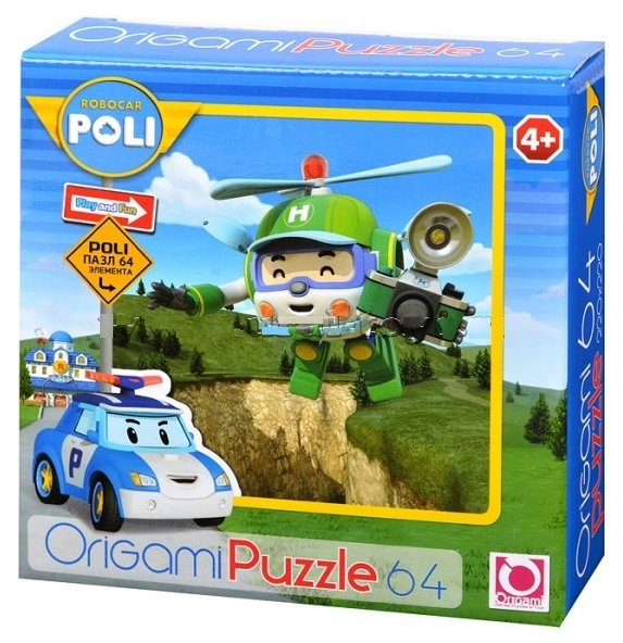 Пазл Origami Robocar Poli (05905), 64 дет.