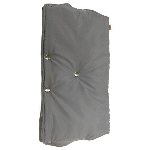 Купить Чудо-Чадо Муфта для рук флис/кнопки серый, Аксессуары для колясок и автокресел