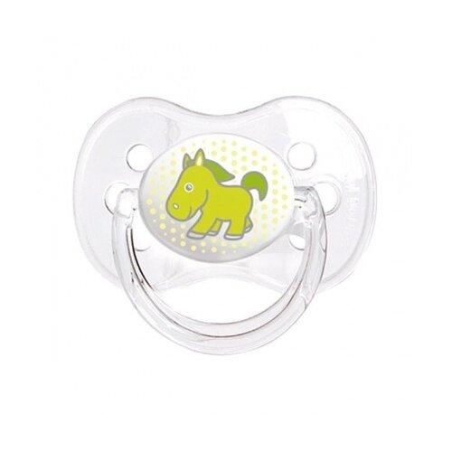 Купить Пустышка силиконовая классическая Canpol Babies Transparent 18+ (1 шт) зеленый, Пустышки и аксессуары