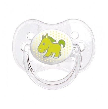 Пустышка силиконовая классическая Canpol Babies Transparent 18+ (1 шт)