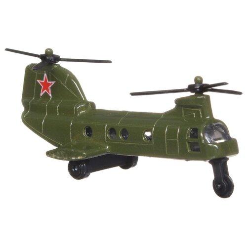 Купить Вертолет ТЕХНОПАРК ВВС (10115-R) 7.5 см зеленый, Машинки и техника