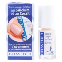 Belweder лак для укрепления ногтей с кремнием и экстрактом кораллов 8мл