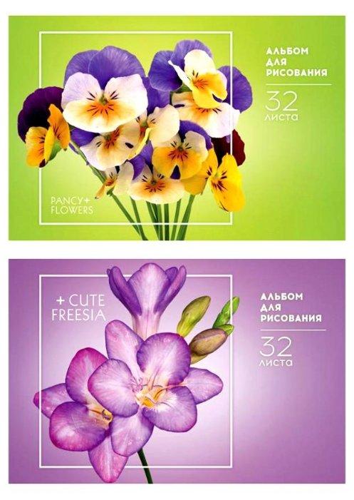 Альбом для рисования на скрепке ArtSpace Цветы. Стильные букеты 29.7 х 21 см (A4), 100 г/м2, 32 л.