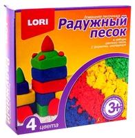 Кинетический песок LORI Радужный песок, 4 цвета (Пт-004)