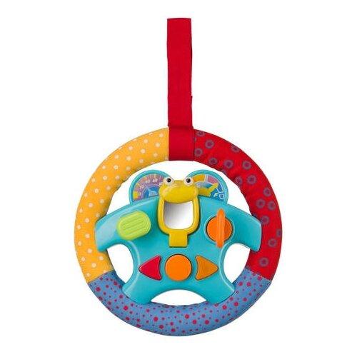 Купить Подвесная игрушка Happy Baby Руль (330084) голубой/красный/желтый, Подвески