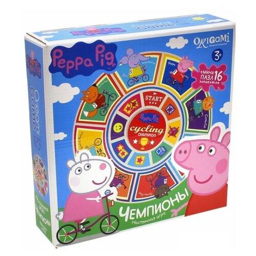 Купить Настольная игра Origami Peppa Pig. Карусель-лото (Чемпионы), Настольные игры