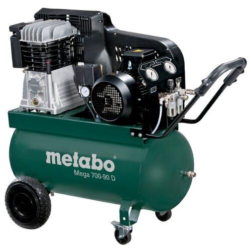 Компрессор масляный Metabo Mega 700-90 D, 90 л, 4 кВт компрессор abac а29в 90 см3 4116024363