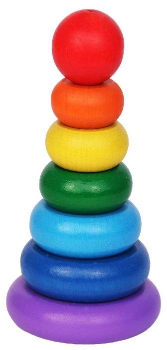 Пирамидка Краснокамская игрушка Семицветик