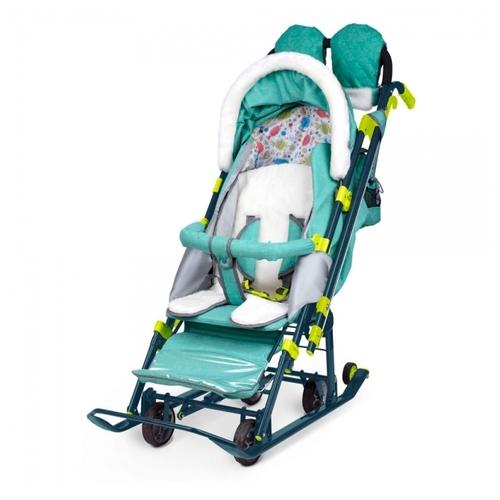 Купить Санки-коляска Nika Ника детям 7-3 (НД 7-3) по выгодной цене ... c5645504b51