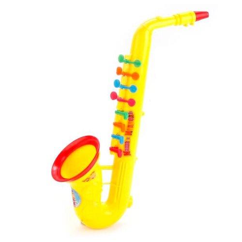 Купить Играем вместе саксофон Маша и Медведь B226350-R2 желтый, Детские музыкальные инструменты