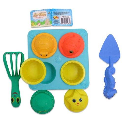 Купить Набор ABtoys PT-00682 синий/зеленый/голубой, Наборы в песочницу