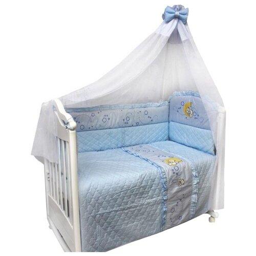 Купить Bombus комплект Соня (6 предметов) голубой, Постельное белье и комплекты