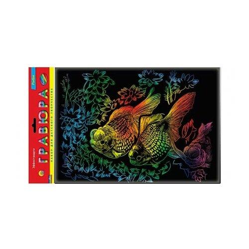 Фото - Гравюра Рыжий кот Рыбки, в пакете с ручкой (Г-2618) цветная основа гравюра рыжий кот зайчик в пакете с ручкой г 9449 цветная основа