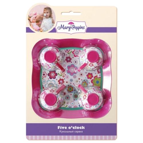 цена Набор посуды Mary Poppins Цветы 453024 розовый/белый/цветы онлайн в 2017 году