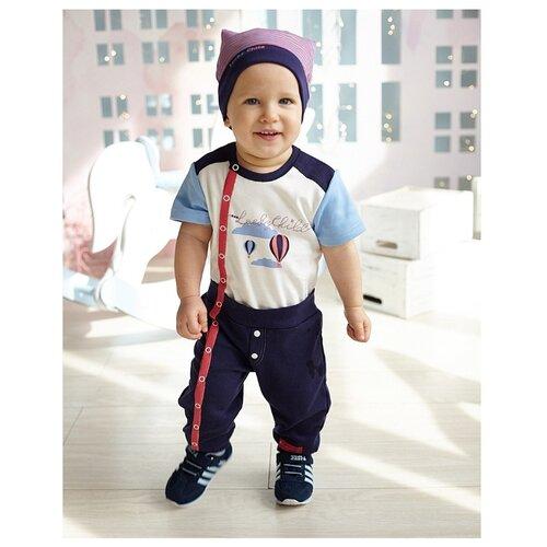 Комбинезон lucky child размер 26/1, белый/синийКомбинезоны<br>