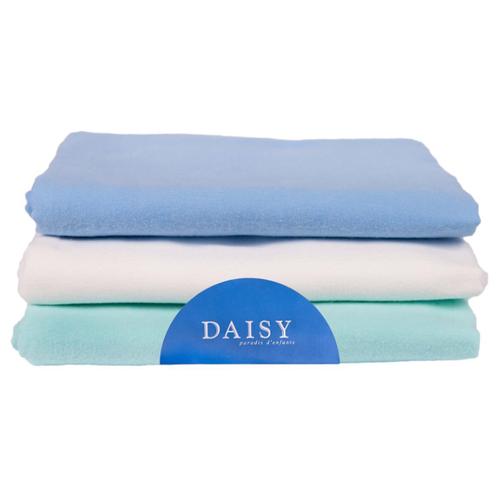 Купить Многоразовые пеленки Daisy фланель 90х120 комплект 3 шт. голубой, Пеленки, клеенки