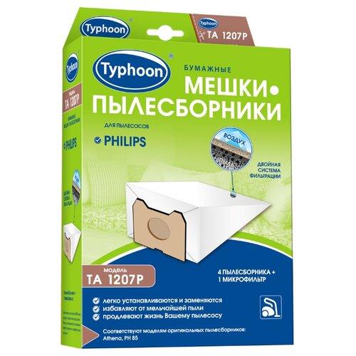 Тайфун Бумажные мешки-пылесборники TA 1207P белый 4 шт.