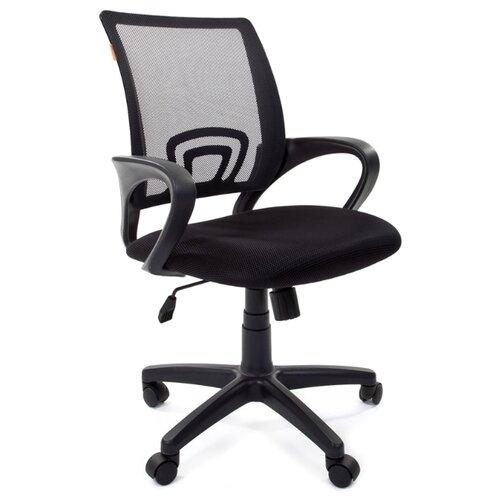 Компьютерное кресло Chairman 696 офисное, обивка: текстиль, цвет: черный / черный