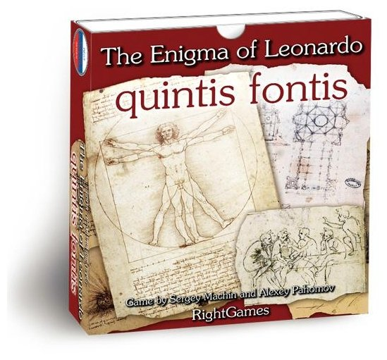 Настольная игра Правильные игры Загадка Леонардо. Quintis Fontis